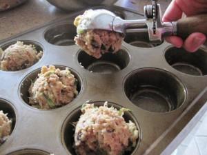 Zuchinni muffins GF 2