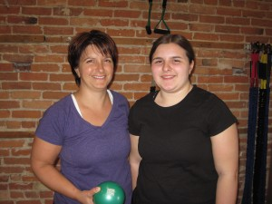 Dina has been training at XO Fitness since 2012. Ashley joined her starting last summer.