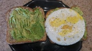One of my favorite breakfasts...avocado and egg sandwich