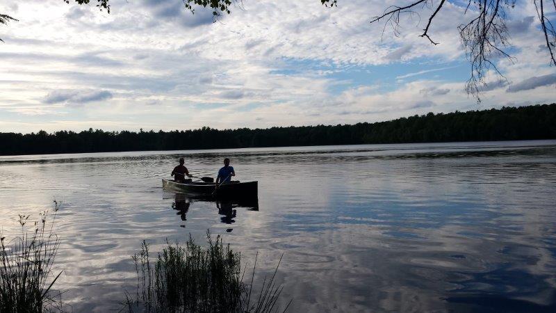 Canoeing on Laura Lake